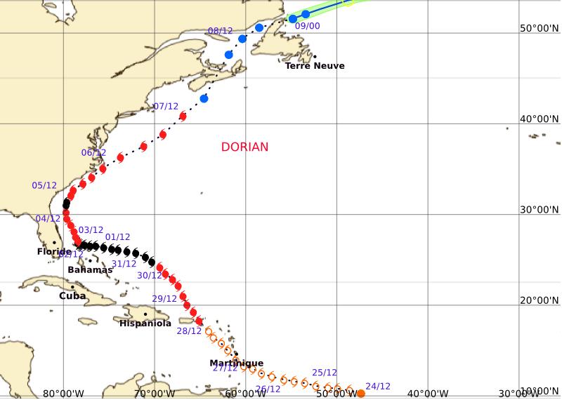 Image d'illustration pour Les Antilles sous la menace de la tempête tropicale Dorian