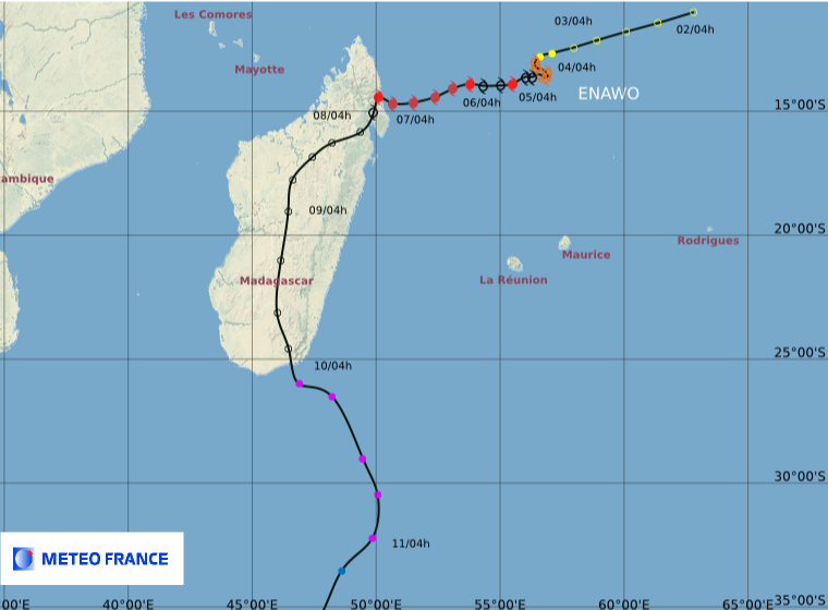Carte cyclone ENAWO