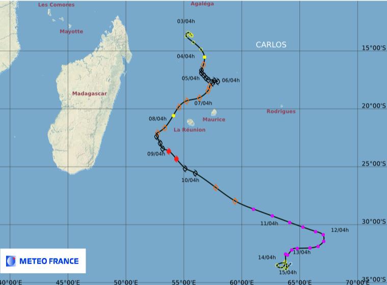 Image d'illustration pour Tempête tropicale Carlos sur La Réunion