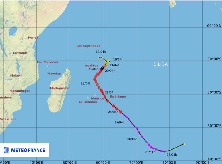 Image d'illustration pour Cyclone Cilida : menace sur les Mascareignes