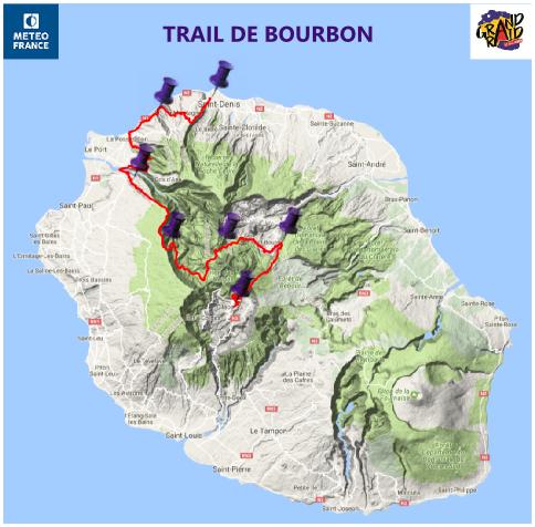 parcours Trail de Bourbon